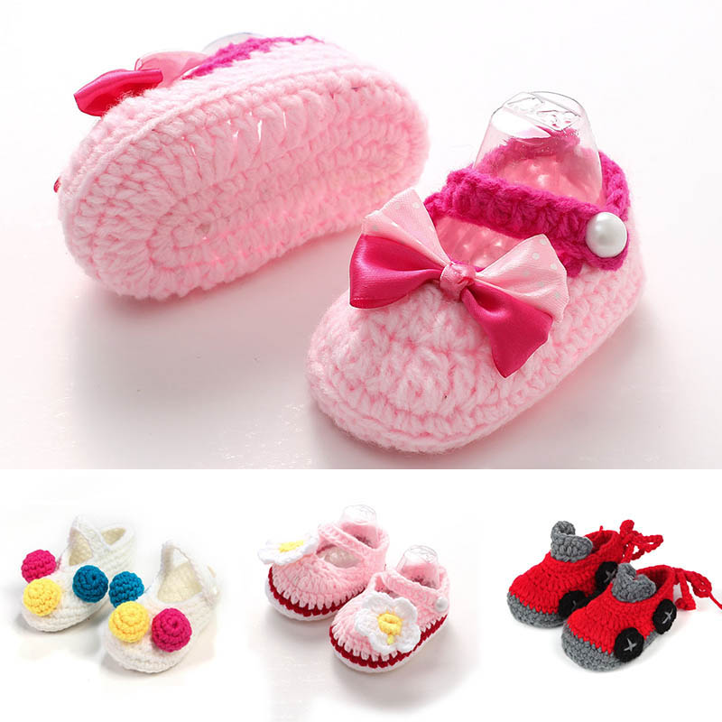 Cute Baby Shoes Weaving Wool Soft