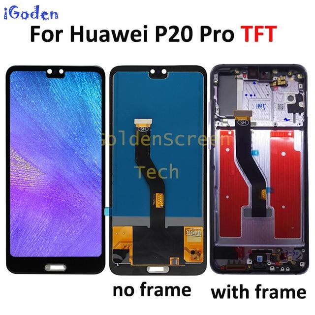 """TFT dla Huawei P20 Pro wyświetlacz lcd ekran dotykowy Digitizer zgromadzenie P20 Pro lcd z ramą 6.1 """"dla Huawei p20 pro ekran wymienić"""