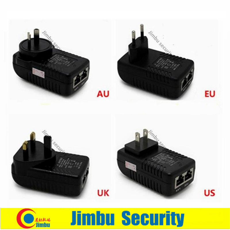 POE Power Supply Switch DC48 V 0.5A Support 10M/100Mbps PoE Injector Power Adapter AC100-240V Cctv Security Camera