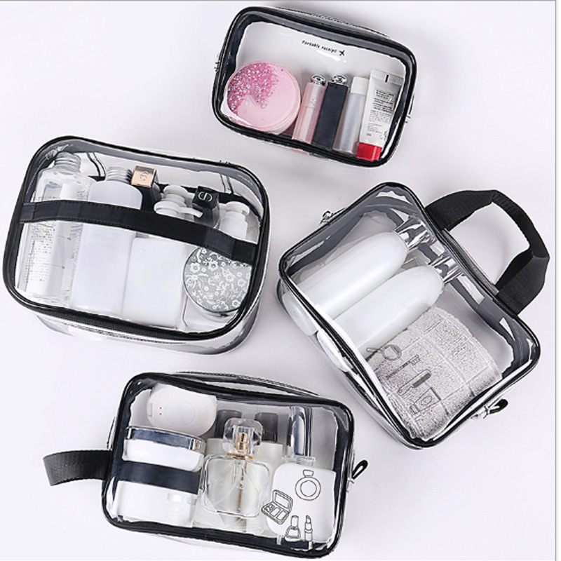 Transparent Waterproof Beauty Cosmetics Women's Transparent PVC Multi-function Cosmetic Bag Travel Accessories