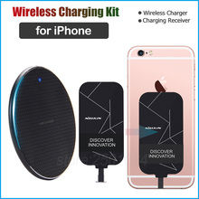 Qi Wireless Charging for Apple iPhone SE 2020 11 Pro X XR XS Max 8 Wireless Charger+Charging Receiver for iPhone 5 6 6s 7 Plus