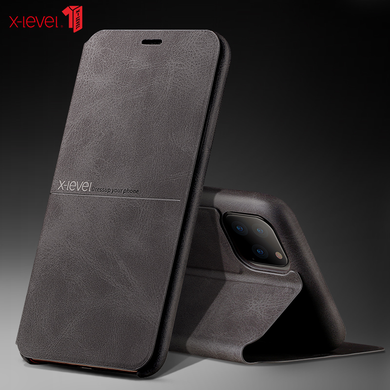 X-level premium couro capinhas para novo iphone 11 pro xs max xr x 8 6 s 7 plus capa protetora completa bussiness