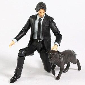 Image 5 - MAFEX 085 John Wick Capitolo 2 Keanu Reeves PVC Action Figure Da Collezione Model Toy