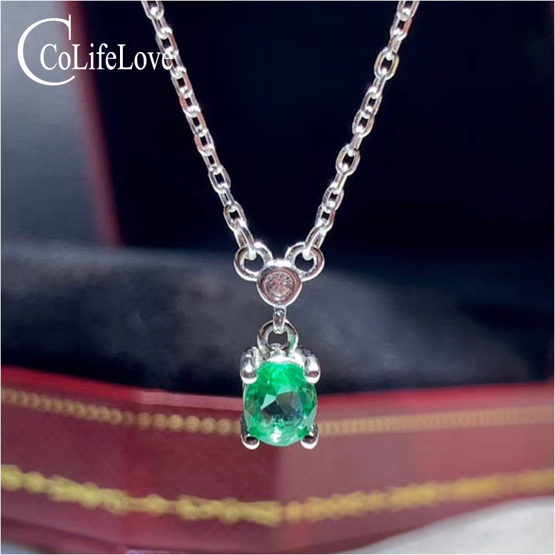 Sterling Silver Green Quartz Diamond Pendant Solid 5 mm 12 mm Pendants /& Charms Jewelry