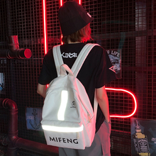 Women Backpack Fashion Personality Fluorescent Strip 2019 Casual Brand Womens Female Travel Shoulder Bags