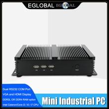 Eglobal Core i5 8250U i3 8145U безвентиляторный промышленный мини-ПК 2 COM HDMI VGA Lan 300M Wifi 4K HD HTPC многофункциональный мини-компьютер