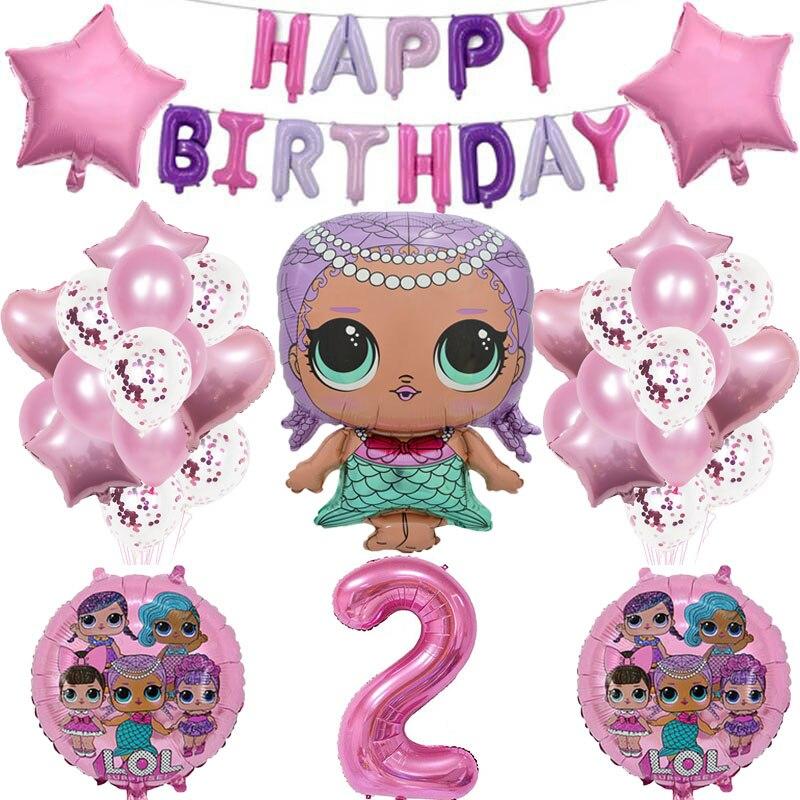 Оригинальный из серии «LOL Surprise» Куклы вечерние темы воздушные шары Свадебные украшения Поставки куклы Lol набор воздушных шариков с платье д...