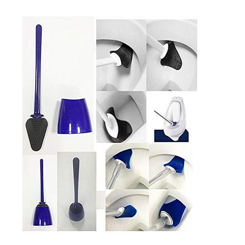 Universal Bathroom Toilet Brush Rubber Scrape Tool Cleaning Brush Spear Loo