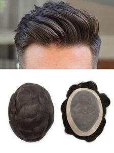 SSH Hair-Replacement Toupee Human-Hair-System Male Wig Lace-Frontal NPU Durable MONO