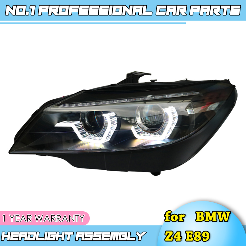 Автомобильные аксессуары для BMW Z4 E89 светодиодный фары 2009 2016 для Z4 фар Светодиодный Угол eyes drl H7 Биксеноновая разрядная лампа высокой интенсивности для объектива ближнего и дальнего света