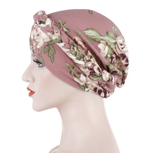 Image 2 - Helisopus Neue Baumwolle Gedruckt Braid Turban Frauen Islamischen Inneren Hijab Caps Kopftuch Arabischen Wrap Kopf Schals Femme Haar Zubehör