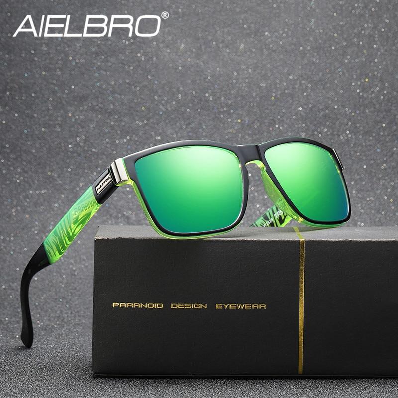 Купить с кэшбэком New Polarized Vintage Sunglasses Sets Polarized Men's Sun Glasses Men Square Shades Driver Women Oculos Male Gafas Ciclismo