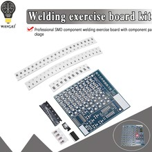 DIY PCB Placa de Circuito Placa De Prática De Solda SMT SMD Kit DIY Fanny Habilidade Treinamento Terno 77PCS componentes Eletrônicos