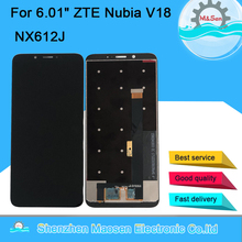 Оригинальный ЖК дисплей M & Sen для ZTE Nubia V18 NX612J, 6,01x1080, сенсорный экран с цифровым преобразователем, Nubia V18 NX612J, 2160 дюйма