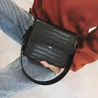 Frauen Designer Luxus Handtasche 2019 Mode Neue Große Kapazität Leder Frauen Handtaschen Krokodil Muster Schulter Umhängetasche