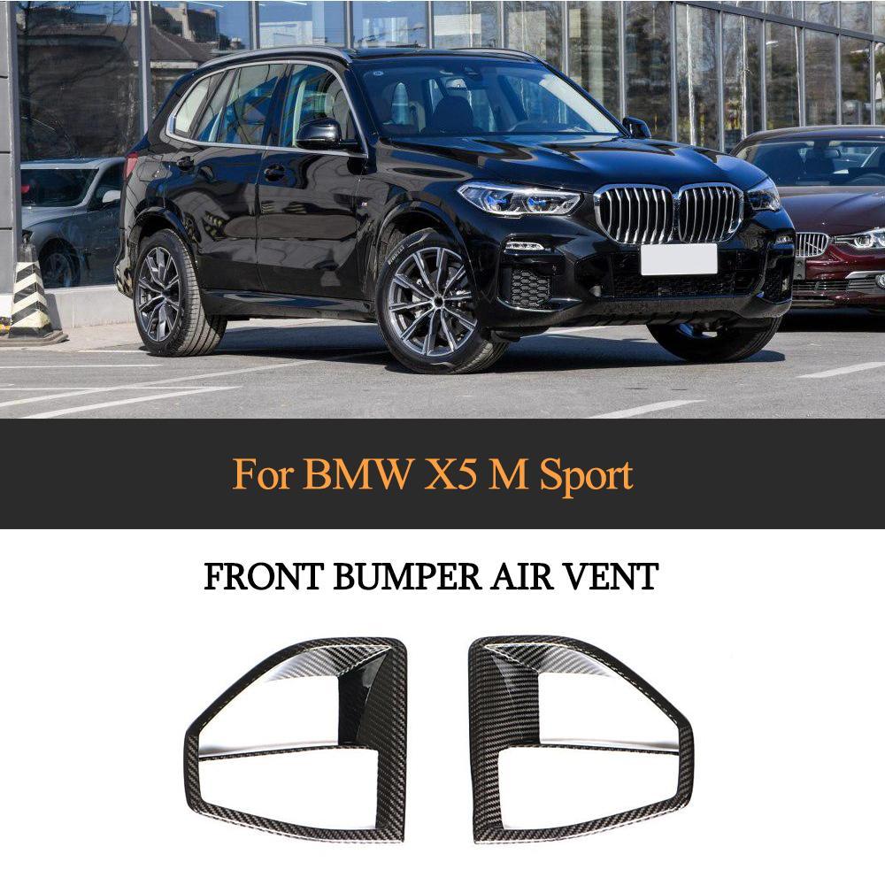 X5 Sport Frontschürze Air Vents Abdeckung Trim Für BMW X5 M-SPORT 2019 2020 Carbon Fiber Bumper Splitter Trim Abdeckung