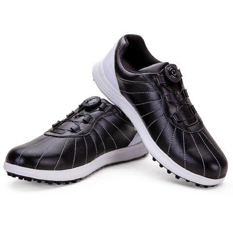 Sapatos de Golfe dos Homens à Prova Formadores de Golfe Esportivos para o Sexo Dlight Água Anti Deslizamento Tênis Atlético Treinamento Sapatos Masculino D9100 Luz