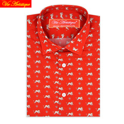 custom tailor made Men s bespoke dress shirts business casual wedding blouse orange floral lion cotton UK LIBERTY tailorsuit