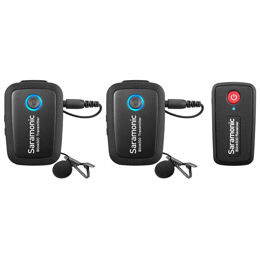 Saramonic Blink500 sans fil Studio condensateur Microphone Lavalier revers entretien Microphone pour Android iPhone DSLR appareils photo