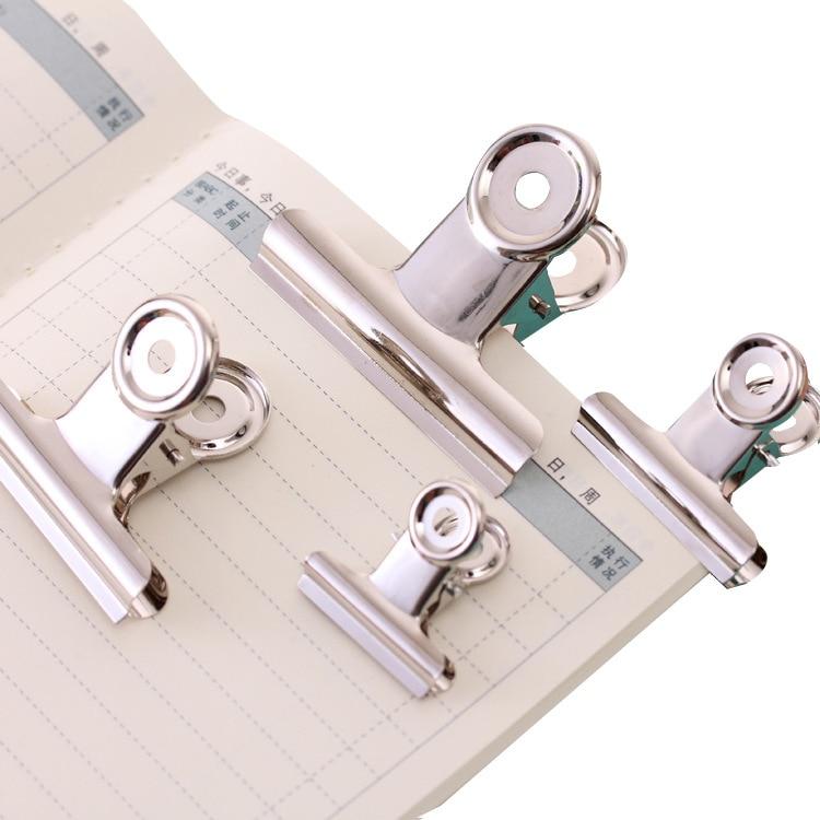 Silver Paper Clips Letter Paper Clip Metal Binder Spring Stainless Steel Folder Office School Supplies in Clips from Office School Supplies
