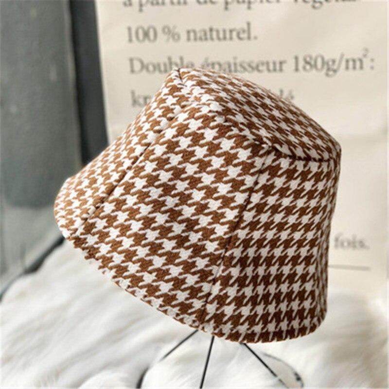 Sombrero plegable Reversible de pata de gallo para mujer, sombrero de pescador a cuadros, Hip Hop, Panamá, Unisex