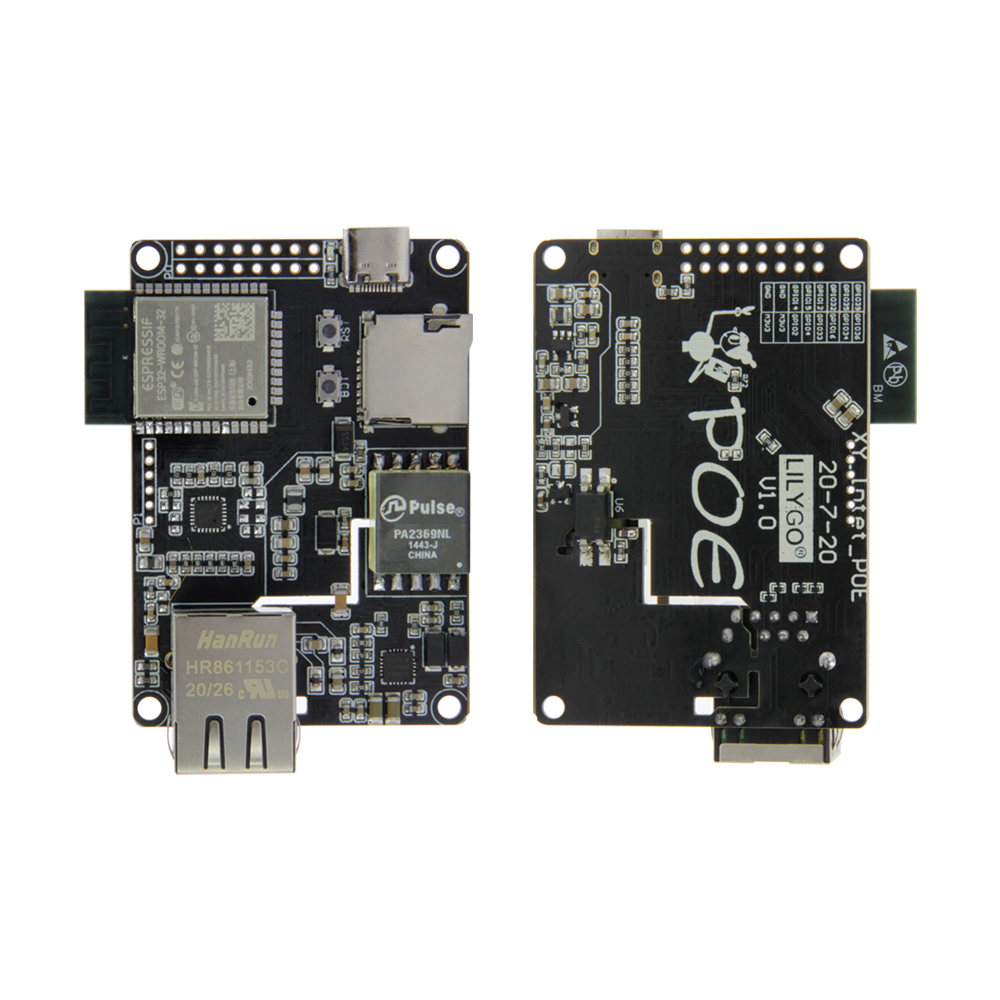 LILYGO® TTGO T-Internet-POE ESP32-WROOM LAN8720A Chip Ethernet Adapter And Downloader Expansion Board Programmable Hardware