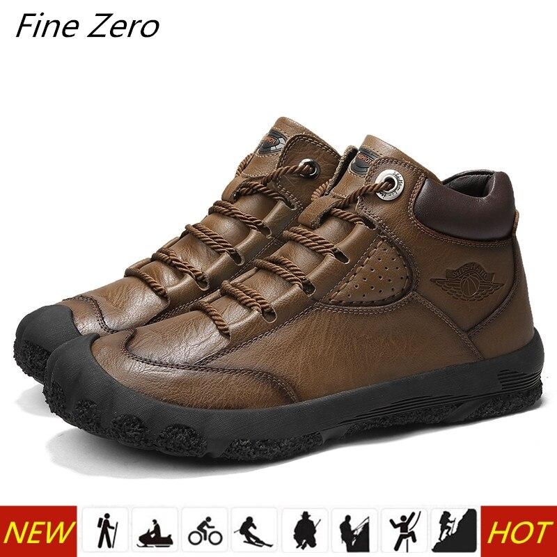 Männer High Top Echtes Leder Wandern Schuhe Langlebig Wasserdichte Anti-Slip Outdoor Klettern Trekking Schuhe Militärische Taktische Stiefel