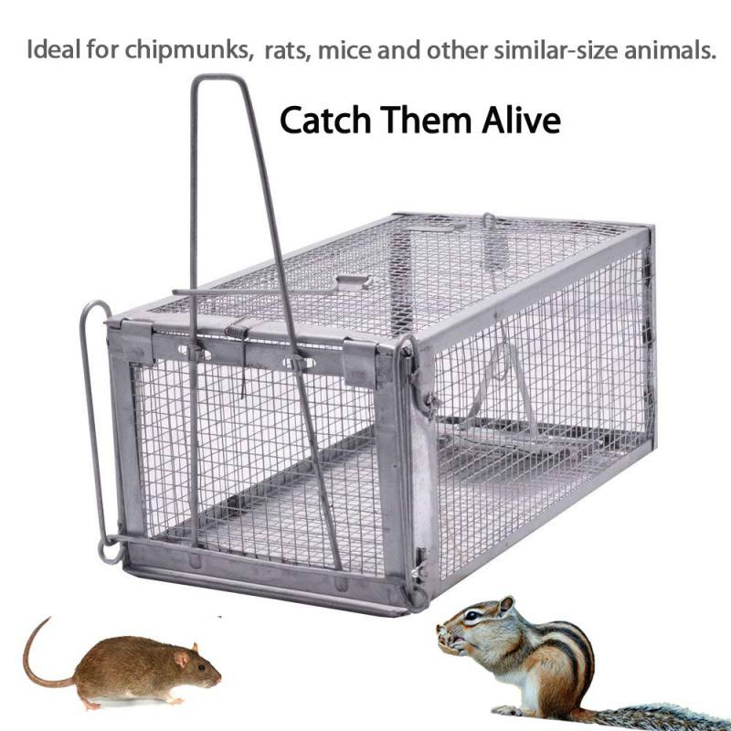 Reusable Rat Trap Heavy Duty Mouse Pest Animal Mice Hamster Cage Control Bait Rodent Repeller Catch Live Rat Hamster Trap Z