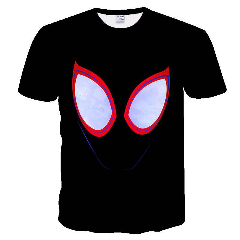 Black Cartoon Venom Marvel 3D Printed Hip Hop Style T-shirts For Men Women Summer Funny Casual T-shirts Crewneck Loose Tees