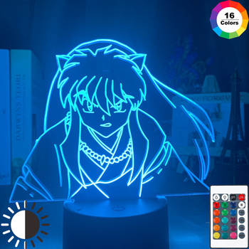 Manga Inuyasha Figure Led Night Light Lamp for Kids Bedroom Decoration Nightlight Color Changing Usb Table Lamp Gift for Child assassins creed altair figure led night light for kids bedroom home decor color changing baby nightlight for child night lamp 3d