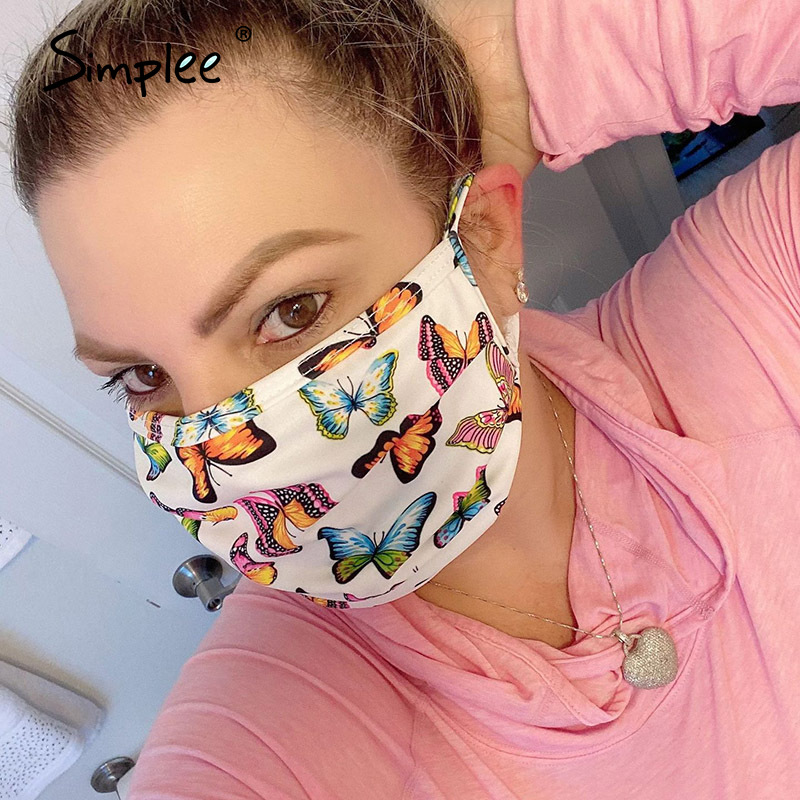 Fashion Face Mask Women Mouth Face Mask Summer Style New 2020 Print Mask Mouth Face Protection Face Mask With Print