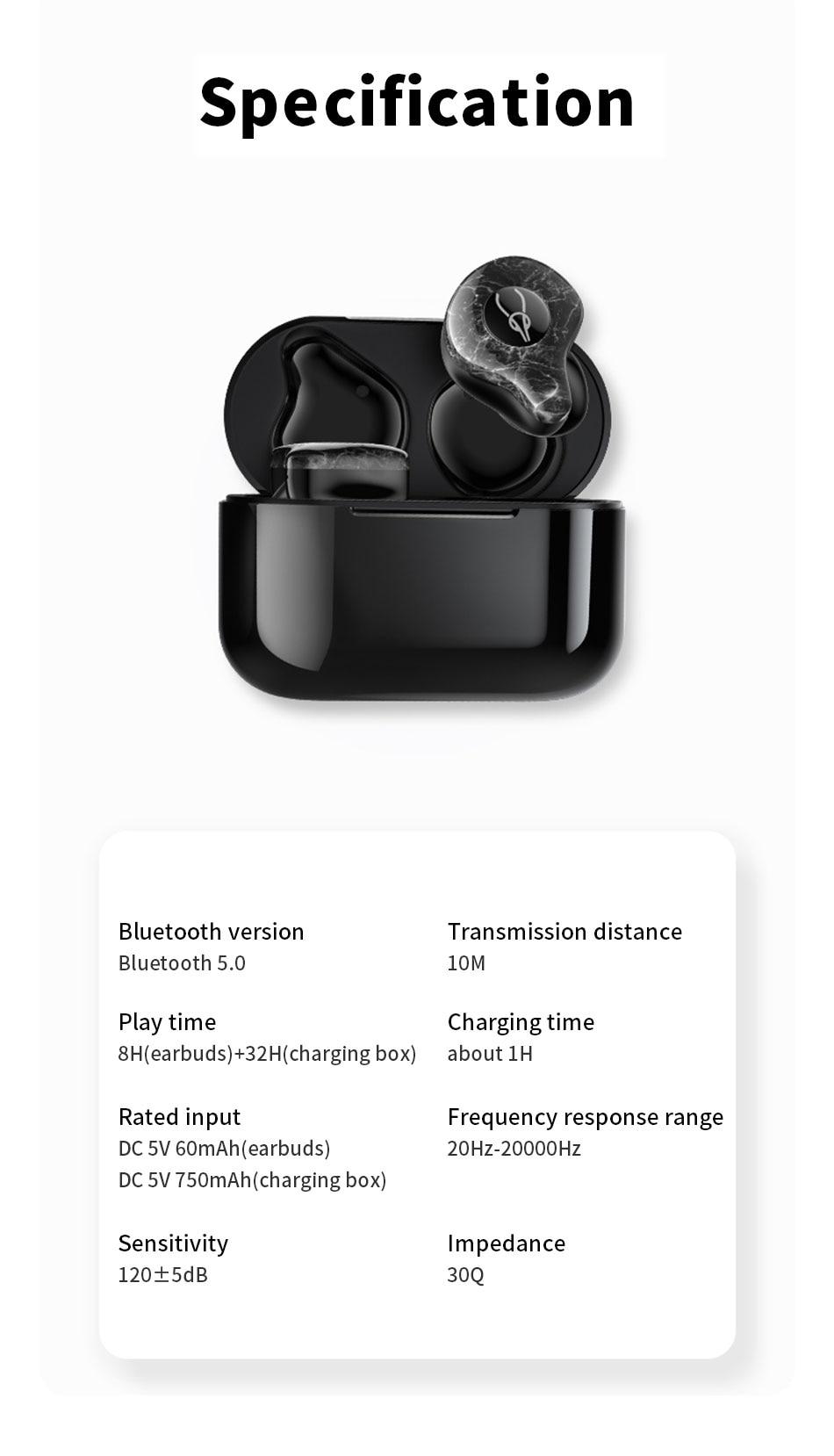 fone de ouvido ipx5 impermeável APX-T áudio 3.7v in-ear