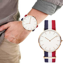Mens Top Brand Simple Nylon Watch Relogio Masculino