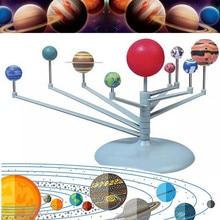 Sistema solar nove planetas planetário modelo kit astronomia ciência projeto diy crianças presente em todo o mundo venda educação precoce para a criança