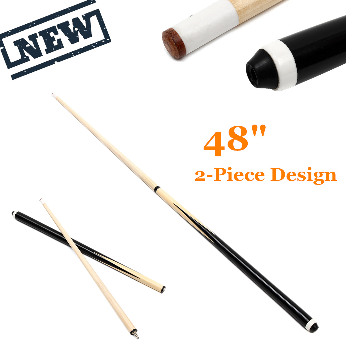 120cm 1/2 Structure 1Pcs Wooden Pool Cues Billiard House Bar Pool Cues Sticks Entertainment Snooker Accessories Billiard Tools