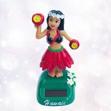 Doll Car Shaking Hawaiian Solar-Powered Hula-Girl Ornaments Car-Decoration Style 1PC