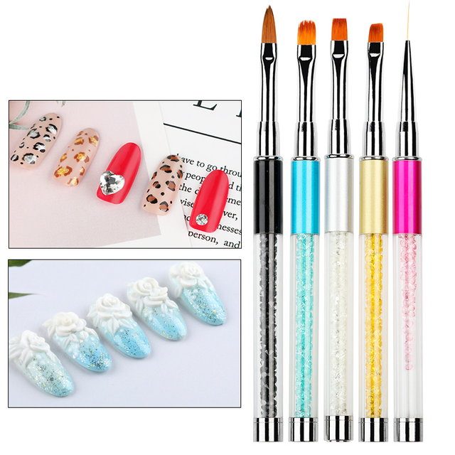Nailwind Gel nail pollish brushes Pens For nail extenion acrylic powder 3D paiting carving line Manicure Set For nail art Brush 2