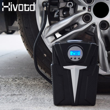 Hivotd DC 12v Car Air Compressor Portable car tyre inflator Pump for Car Motorcycles Bicycles Auto Pressure Tyre Auto Air Pump