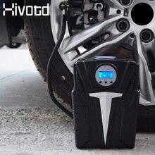 Hivotd DC 12v 자동차 공기 압축기 휴대용 자동차 타이어 팽창기 펌프 자동차 오토바이 자전거 자동 압력 타이어 자동 공기 펌프