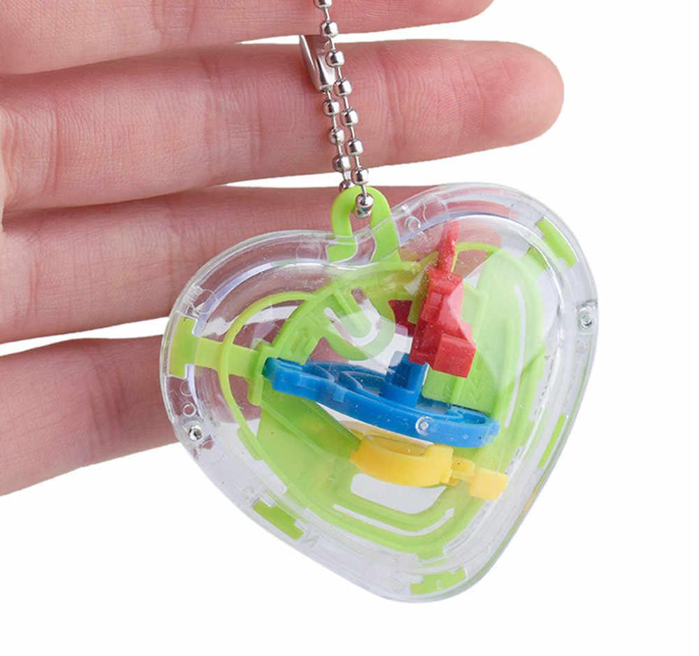 Zabawki dla dzieci mini piłka labirynt intelekt 3d Puzzle zabawki bilans bariera magia labirynt gry sferyczne dzieci śmieszne prezenty # CN20