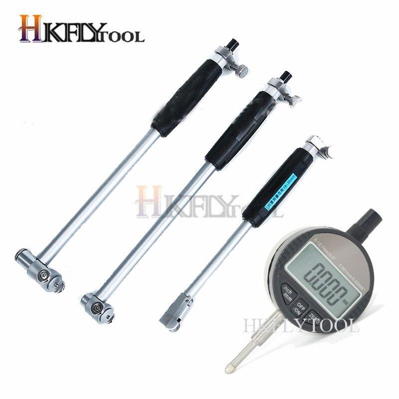 Измерительный стержень для внутреннего диаметра 50-160 мм + щуп 12,7 мм, цифровой индикатор, измеритель внутреннего диаметра 10-18 мм, измерительны...