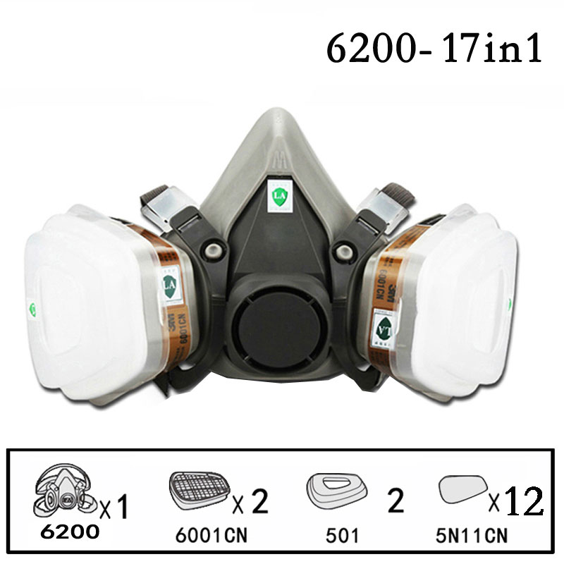 17 In 1Filter Gas BoxCartridges Chemical Anti Organic NIOSH Approved Against Certain Organic Respiratory Paint Benz Vapors PM019