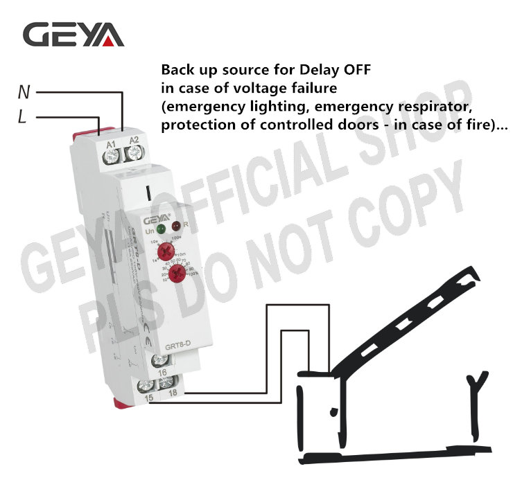 GEYA On Off Time Delay Relay 16A AC//DC12V-240V Multifunction Timer Relay