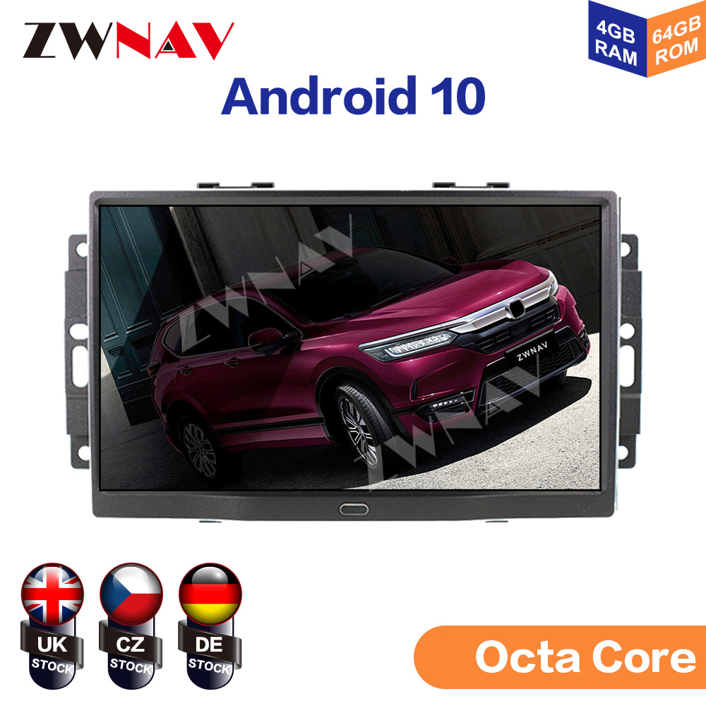Radio con GPS para coche, Radio con reproductor DVD, Android 10, 4 + 64 GB, 8 núcleos, estéreo, para Jeep Grand Cherokee Patriot, Dodge Charger, Chrysler 300C