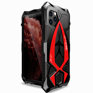 Image 3 - For iPhone 11 Pro XS Max XR Case,LUPHIE Metal Armor Rosdster Phone Case 360°All Round Coverage Protection Cool Travelling Cover