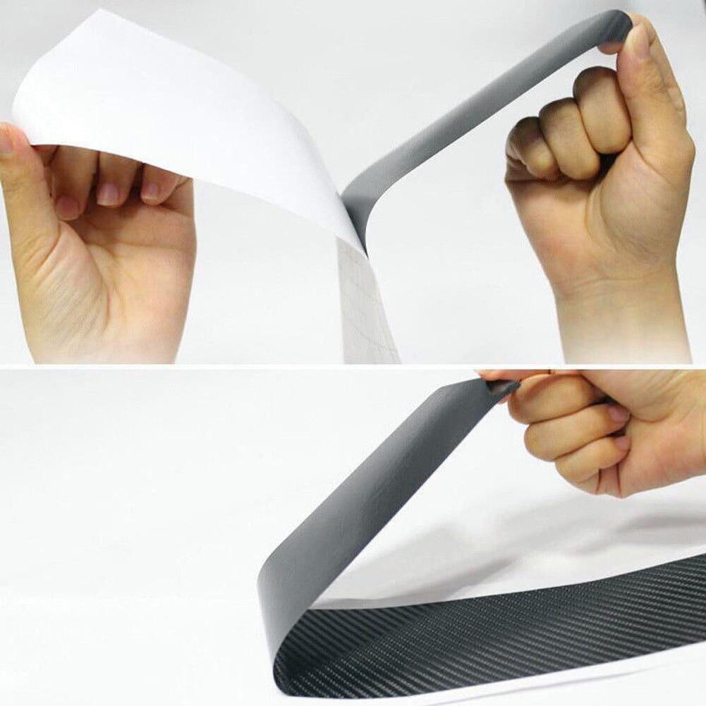 Image 5 - Car SUV Rear Bumper Sill Protector Plate Rubber Cover Guard Pad Moulding Trim Car DIY Rubber Pad Trim Anti Scratch Cover Strip