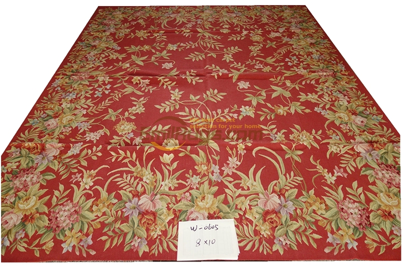 French Aubusson Carpets W-0605 8X10 2 Hand Knotted  Home Decoration Bedroom  Gc8aubyg13