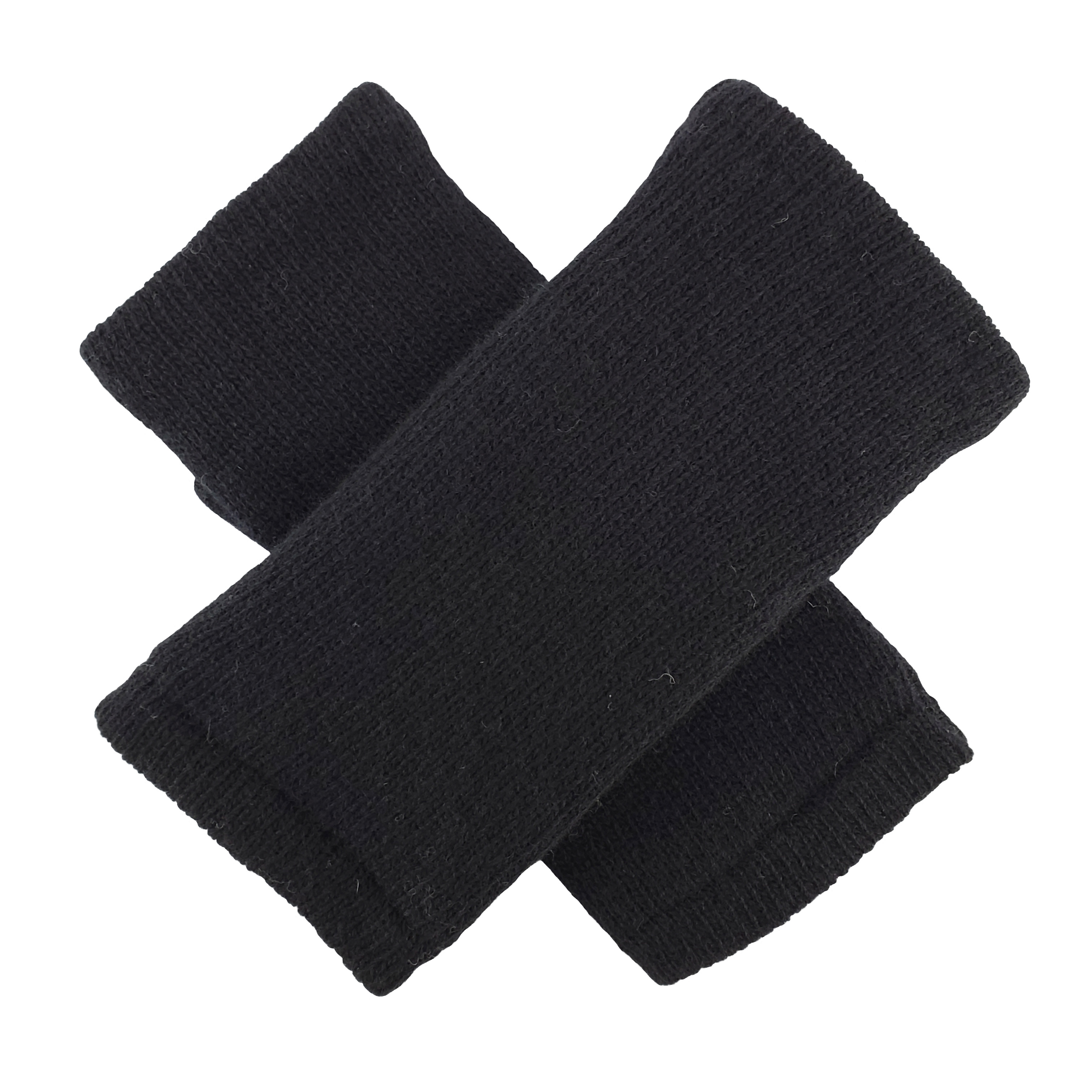 Bruceriver Ladies' Wool Knit Fingerless Glove With Thinsulate Lining Plain Design