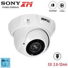 8mp,5mp,3mp,2mp metal 36 pces infravermelho led 2.8mm-12mm zoom h.265 + onvif áudio hemisfério detecção de rosto câmera ip poe