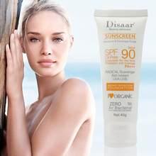 Corpo facial protetor solar clareamento sol creme protetor solar pele anti-envelhecimento óleo-controle hidratante spf 90 tslm1